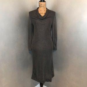 Banana Republic Gray Cow-neck Sweater Dress - Med.